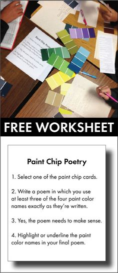Free poetry lesson/stations activity for teens #highschool #middleschool #ELA