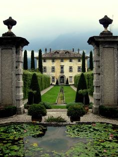 Villa Il Balbiano, Italy. Built end of 16th century and enlarged in the 18th century