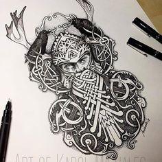 odin tattoo for women . Rune Tattoo, Norse Tattoo, Celtic Tattoos, Viking Tattoos, Viking Tattoo Sleeve, Sleeve Tattoos, Tattoo Drawings, Body Art Tattoos, Tattoo Art