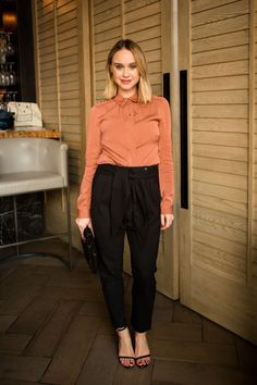 Becca Tobin attends the AYR Fall Collection party
