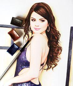 Selena Gomez fashion illustration