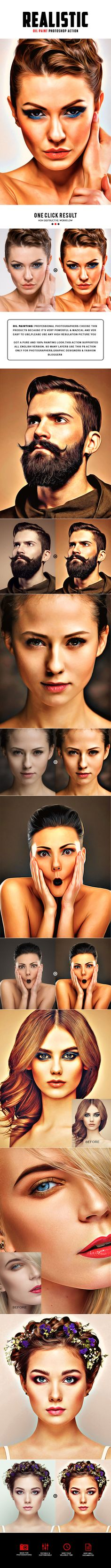 Realistic Oil Painting Photoshop Action - Photo Effects Actions Download here: https://graphicriver.net/item/realistic-oil-painting-photoshop-action/19995363?ref=classicdesignp