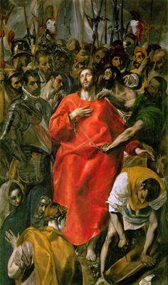 El Greco, El expolio de Cristo. 1577-1579.Realizado por el autor para la sacristía de la catedral de Toledo. Representa el momento en el que Jesús fue despojado de sus ropajes, al inicio de la Pasión.