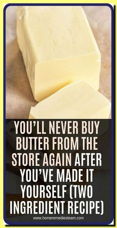 YOU�LL NEVER BUY BUTTER FROM THE STORE AGAIN AFTER YOU�VE MADE IT YOURSELF (TWO INGREDIENT RECIPE) Vitamin A, Health And Wellness, Health Tips, Health Fitness, Health Care, Health Facts, Holistic Wellness, Health Articles, Holistic Healing