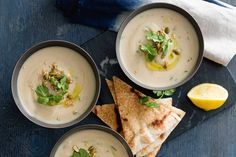 Spiced cauliflower soup: This hearty vegetarian soup with you leave you feeling warm from the inside out.