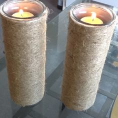 empty pringle cans turned into candle holders