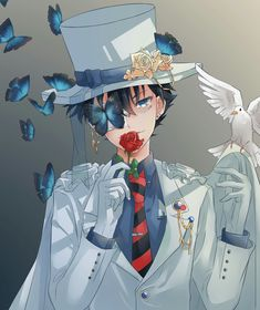(c) to the rightful artist Conan Comics, Detektif Conan, Magic Kaito, Juvia And Gray, Anime Black Hair, Detective Conan Shinichi, Kaito Kuroba, Kaito Kid, Amuro Tooru