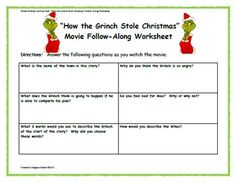 winter holiday activity pack how the grinch stole christ - How The Grinch Stole Christmas Activities