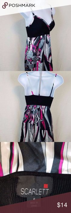 SCARLETT Women's Strapless Summer Dress C4 Scarlett Womens Size 6 Summer Evening Dress  SIZE: 6  CONDITION: Pre-owned/Used - Good condition with no damage or stains Scarlett Dresses