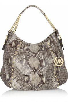 aab56caa166 Micheal Kors Middleton snake-effect shoulder bag.Foods & Drinks -- I want  to make