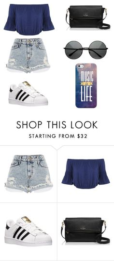 """Untitled #95"" by karenrodriguez-iv on Polyvore featuring River Island, Miss Selfridge, adidas, Kate Spade, Casetify, women's clothing, women, female, woman and misses"