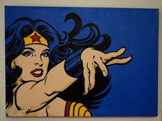 Wonder Woman 70x50 cm Handpainted