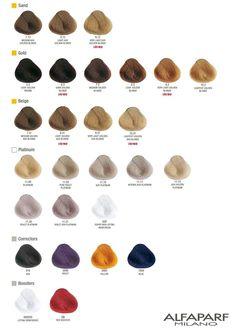 7 best alfaparf images colour chart evolution charts