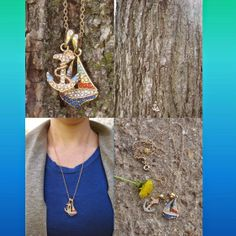 Erica's Fashion & Beauty: mark Magalog 5 Saint Barts Collection Accessories Let Saint Barts' golden sunsets & #nautical atmosphere inspire your #jewelry accessories! (mark Sail Away Duo Charm Necklace)