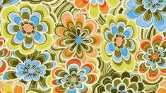 Wallpaper shape background bright flowers