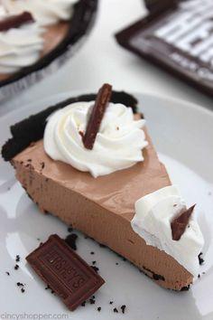 Whipped Hershey's Chocolate Pudding Pie   Recipe   Easy chocolate ...