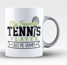 My Favorite Tennis Player Calls Me Gramps - Mug