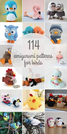 Spring is here and so are these chirping birds! Find all 114 patterns on our website. Spring is here and so are these chirping birds! Find all 114 patterns on our website. Crochet Bird Patterns, Crochet Birds, Cute Crochet, Crochet Animals, Crochet Crafts, Crochet Baby, Knitting Patterns, Crocheted Flowers, Crochet Stars