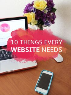 10 Website Essentials for Your Blog or Business | blogging tips | website tips
