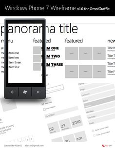 Windows Phone 7 design resources