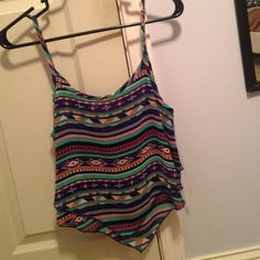 summer crop top striped crop top - never worn but took the tags off, perfect condition; size small mines Tops Tank Tops