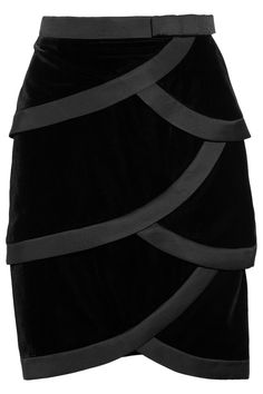 Valentino Satin-trimmed tiered silk-velvet skirt - super cute but WAY out of my price range. :)