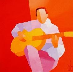 Original acrylic on canvas painting by Stephane Bulan - Paris Art Web Art quilt inspiration