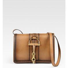 Gucci Duilio Medium Flap Shoulder Bag ($2,900) ❤ liked on Polyvore