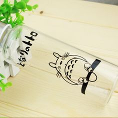 Spirited Away Totoro Pattern Colourless Transparent Class Water Bottle Anime Products $17.50  #Lovejoynet #Animation