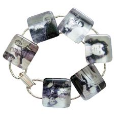 Photo Jewelry Making: Instant Rounded Edge Glass Photo Jewelry Bracelet Kit, Mom, $24.99