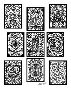Celtic Card Spread ~ artist foxvox  #pattern #knot