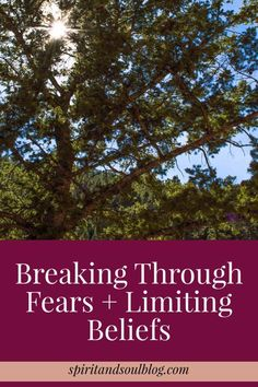 Breaking Through Fears & Limiting Beliefs from the Spirit & Soul blog