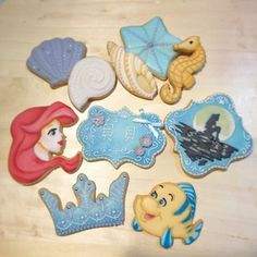 These Little Mermaid cookies aren't just part of this world, they're out of this world. | 27 Disney Princess Confections That Will Blow Your Mind