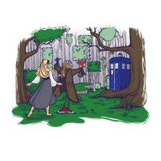 Get This Parody Sleeping Beauty / Doctor Who Design now at TeeFury.com!