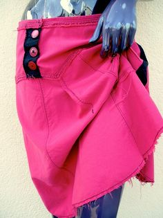 Red and Black Asymmetrical Skirt by JulieMarieSink on Etsy, $58.00