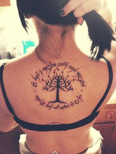 tolkien tree tatoo | lord of the rings # j.r.r. tolkien # wall decal