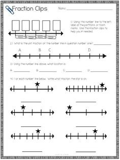 Colored paper clips for teaching number line fractions? Teaching fractions on a number line in math can be engaging with these tips and ideas! Check out these fun activities! 3rd Grade Fractions, Teaching Fractions, Fractions Worksheets, Fifth Grade Math, Equivalent Fractions, Math Fractions, Teaching Math, Dividing Fractions, Maths
