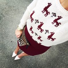 'Tis the season! Feeling festive in this sweater.