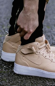 release date: 6655e 61d4d Nikelab Air Force 1 Mid Tan  sneakernews  Sneakers  StreetStyle  Kicks Air  Force