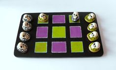 Handmade Board Game Classic Tic Tac Toe Game by ErinlesHouse