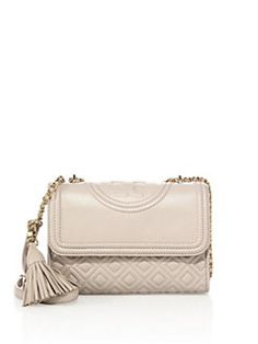 Tory Burch - Fleming Small Quilted Leather Shoulder Bag