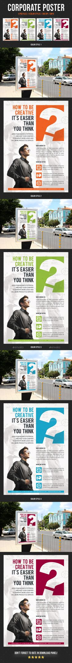 Corporate business poster template v16 business poster corporate corporate business poster template v09 accmission Choice Image