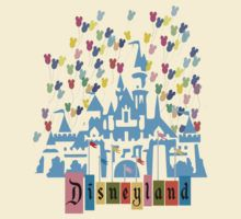 Vintage Disneyland Castle and Balloons