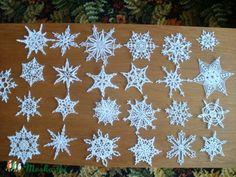 Horgolt karácsonyi hópihék, Dekoráció, Ünnepi dekoráció, Karácsonyi, adventi…