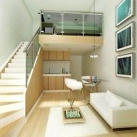 Monoambientes con entrepiso modernos y minimalistas | Casa Web