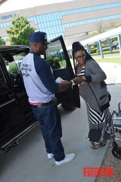Rasheeda and Kirk Frost Leaving the Hospital with Baby Karter