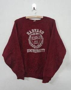 Vintage BROWN LACROSSE Sweatshirt Pullover Medium Size Made In Usa