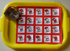 Cat in the Hat matching game -- and other Dr. Seuss ideas