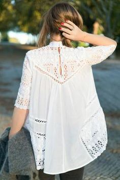 Stylish Blouse Top Outfits That Are Worth To Copy Mode Style, Style Me, Bluse Outfit, Estilo Hippie, Look Boho, Inspiration Mode, Mode Outfits, Look Fashion, High Fashion