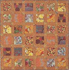 Kaffee Fassett Rattan Squares quilt, Tennessee Quilts